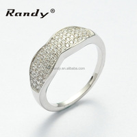 Cheap Diamond Jewelry Purity Ring Silver