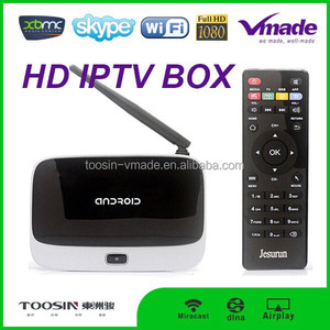Fashinal quad core android 4.4 cs918 smart tv box with External antenna