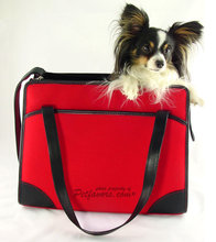 Red & pink designer pet carriers for dogs cats