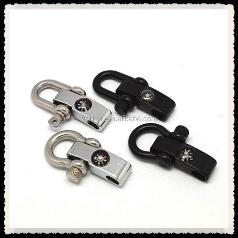 Paracord Adjule Shackle Bracelet Clasp For
