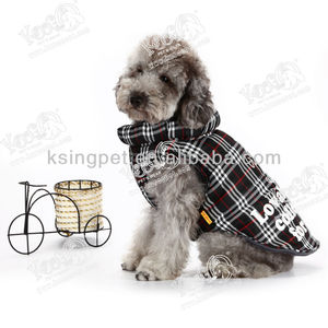 Scottie Tartan Down-like Doggie Party Coat, Make Your Puppy Be Aware From Bad Weather in Winter