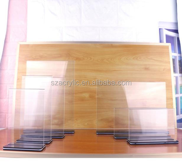 Custom acryl menu display stand tent kaart display