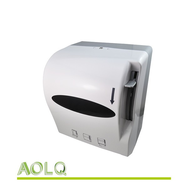 Wall Mounted Paper Roller lever roll hand towels tissue dispenser,plastic wall mounted paper