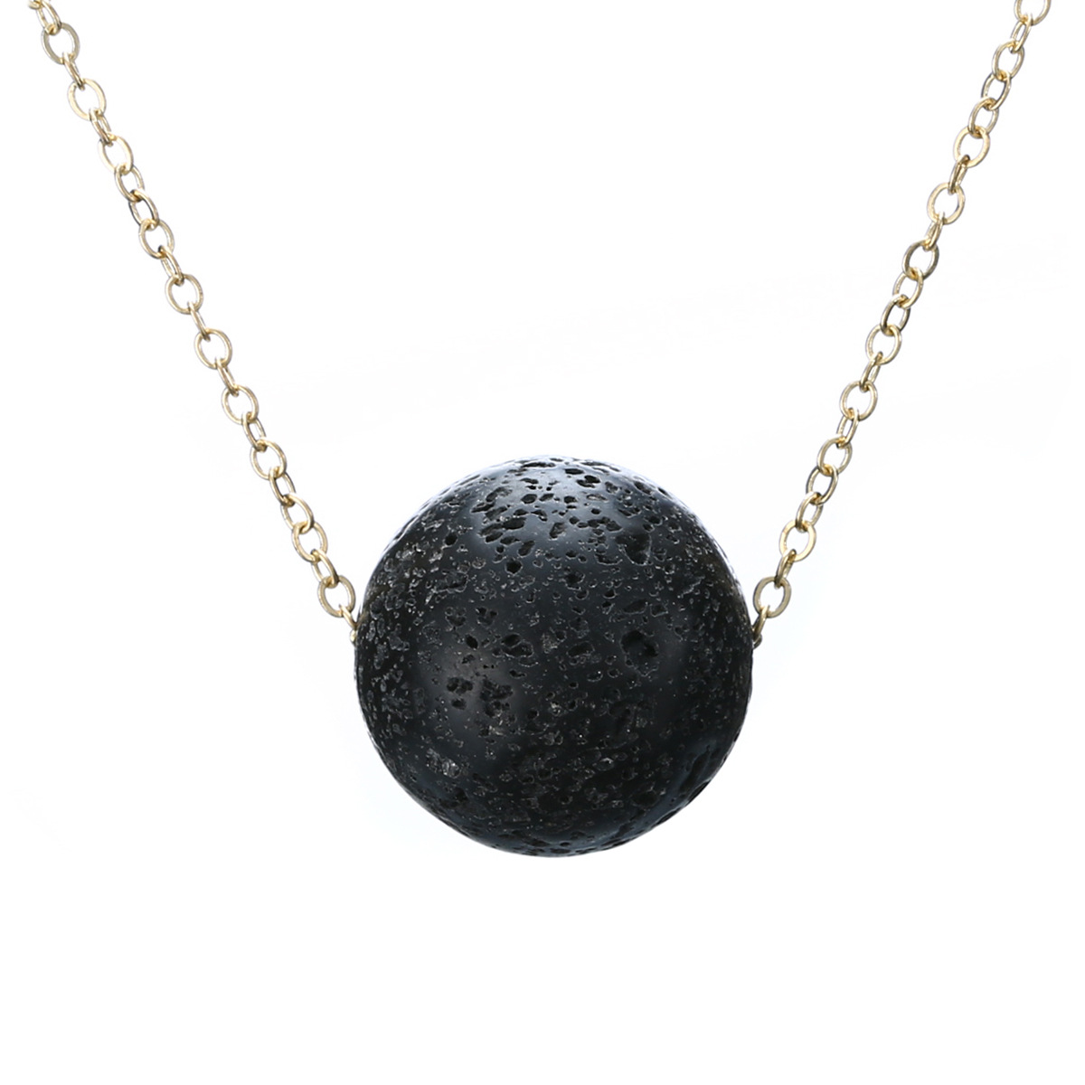 wholesale fashion jewelry Lava Stone Bead Necklace