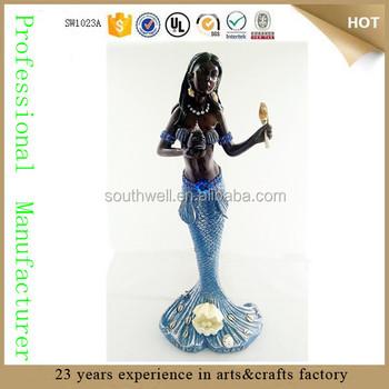 Wholesale Custom Polyresin African Orisha Yemaya Yoruba Virgen De Regla  Yemoja Santeria Statue Figurine Decor - Buy African  Statues,Santeria,Santeria