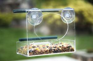 Window Bird Feeder by Red Earth Naturals - Enjoy Birdwatching From the Comfort of Your Home - Two Pack