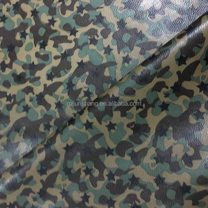 Transfer foil camouflage leather material and fabric for handbag and shoes usage