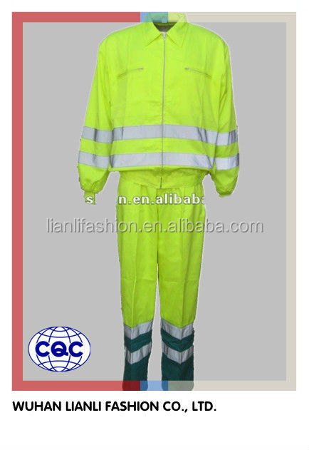 professional hi vis fluorescent separated coveralls workwear