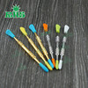 Silicone tipped wax carving dab tool with plastic tube package stainless steel wax dabber tools smoking metal dab tool
