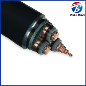 copper 8.7/15KV PVC sheathed XLPE armored type 35mm 4 core armoured cable