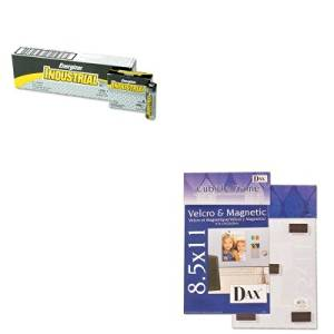KITDAXN140285MEVEEN91 - Value Kit - DAX MANUFACTURING INC. Velcro Magnetic Cubicle Photo Document Frame (DAXN140285M) and Energizer Industrial Alkaline Batteries (EVEEN91)