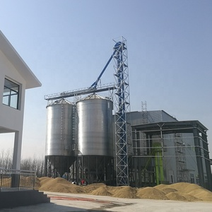 Farm used corrugated steel grain harvestore storage silos for sale