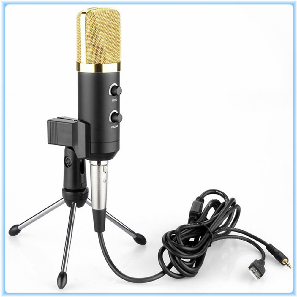 MK-F100TL Unidirectional Dynamic Wired Microphone Designed USB Condenser Studio Sound Recording Microphone with Clear Sound