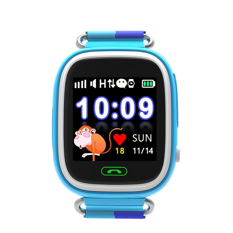 2b7fd7fcb61 ... DFTD02 Children s smart watch 1.22 color screen touch screen telephone  GPS WIFI positioning watch waterproof