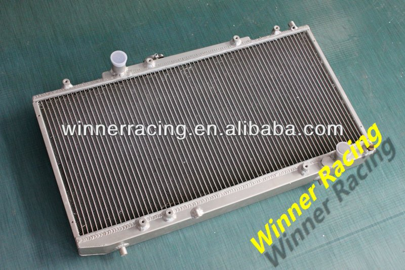 DUAL CORE ALUMINUM ALLOY RADIATOR FOR TOYOTA CELICA GT-4/GT-FOUR/GT4 ST185 3S-GTE ALL-TRAC 1989-1993