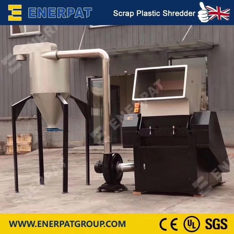 Elektrische Commerciële Plastic Shredder Voor Recycling Machines