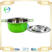 2017 new promotion 2500g large stock pot with small handle and lid