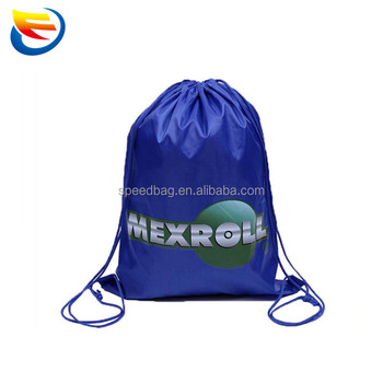 OEM colore misto poliestere draw string bag 210D coulisse zaino