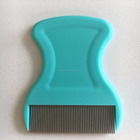 PP handle with small smooth stainless steel head massage anti lice comb