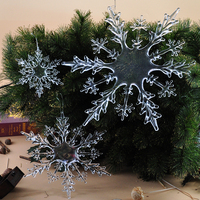 Custom design economical LED sublimation snowflake shape crystal modern lighting ornament