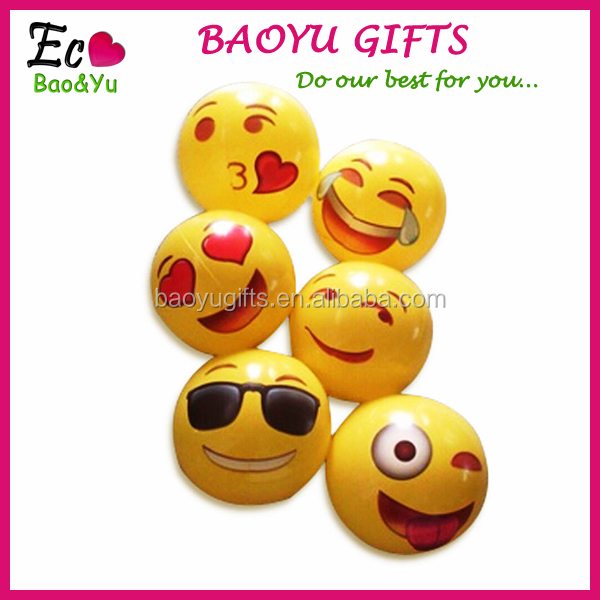 Wholesale PVC Inflatable Emoji Beach Ball