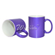 Microwave Safe Custom Printed SGS Approved 11oz Navy Blue Color Shining Sublimation Blank Coffee Mug For Wholesale