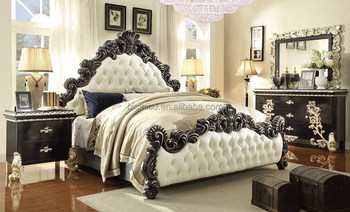 Traditional Victorian Luxurious Eastern King Size Bedroom Set, American  Upholstered Bedroom Furniture