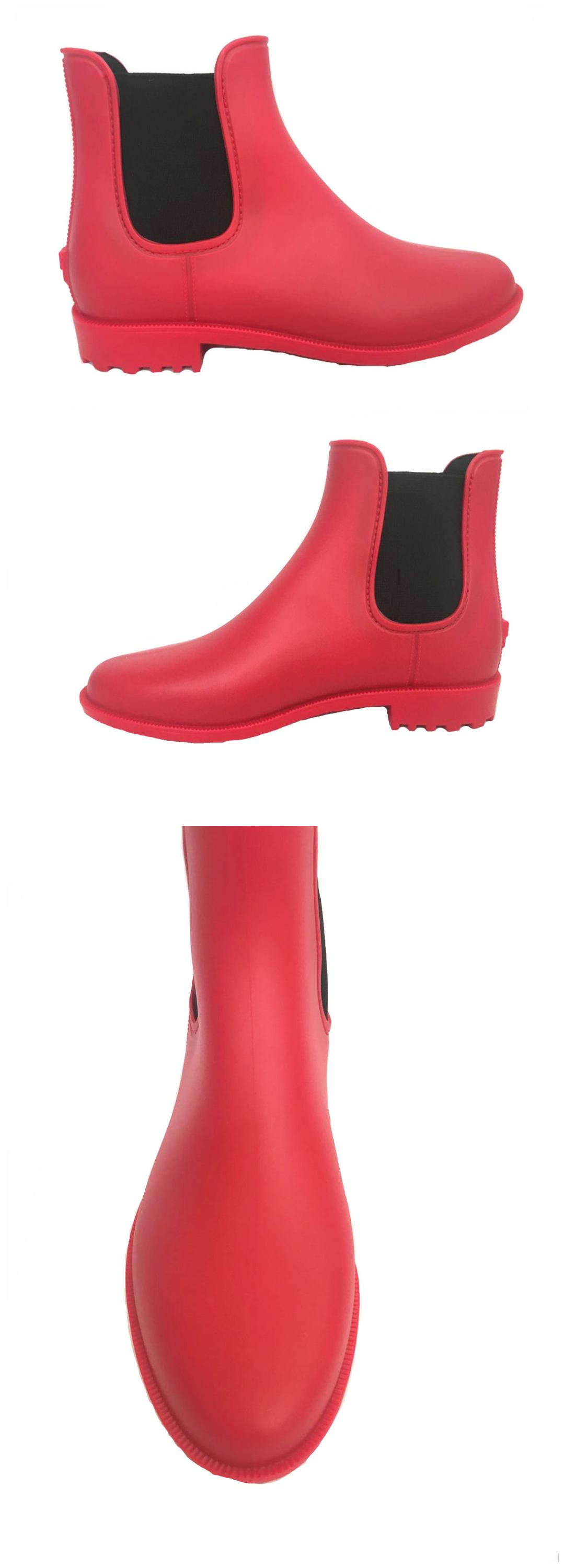 Short women rain boots top new ankle height pvc wellies