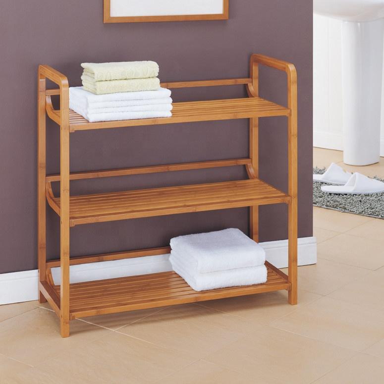3 Tier Bamboo Bath Furniture Towel Rack