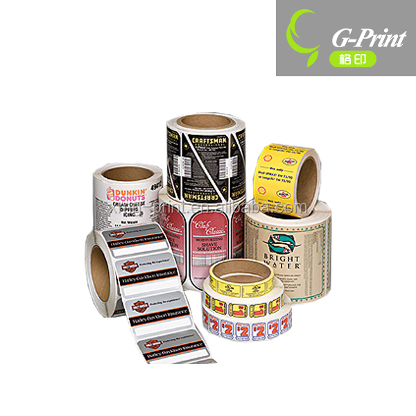 Paper, PE, PET, PVC, PP material custom printed roll label