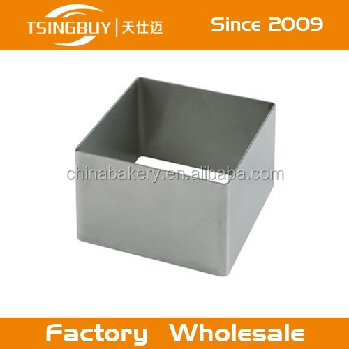 Factrory hot selling custom size Stainless steel cake pans rectangular for cake baking