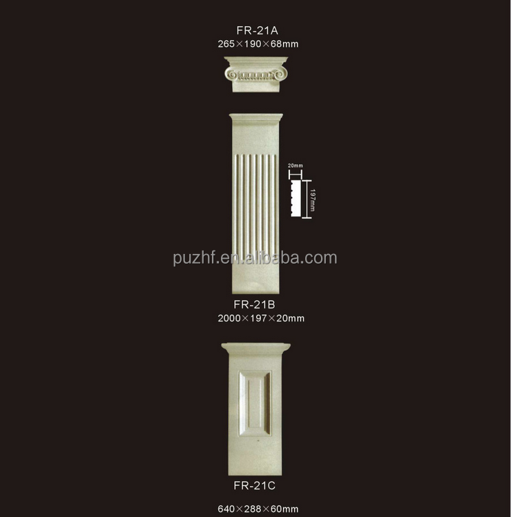 PU material/ mouldings / Roma Columns / Building material / Home & Interior Decoration