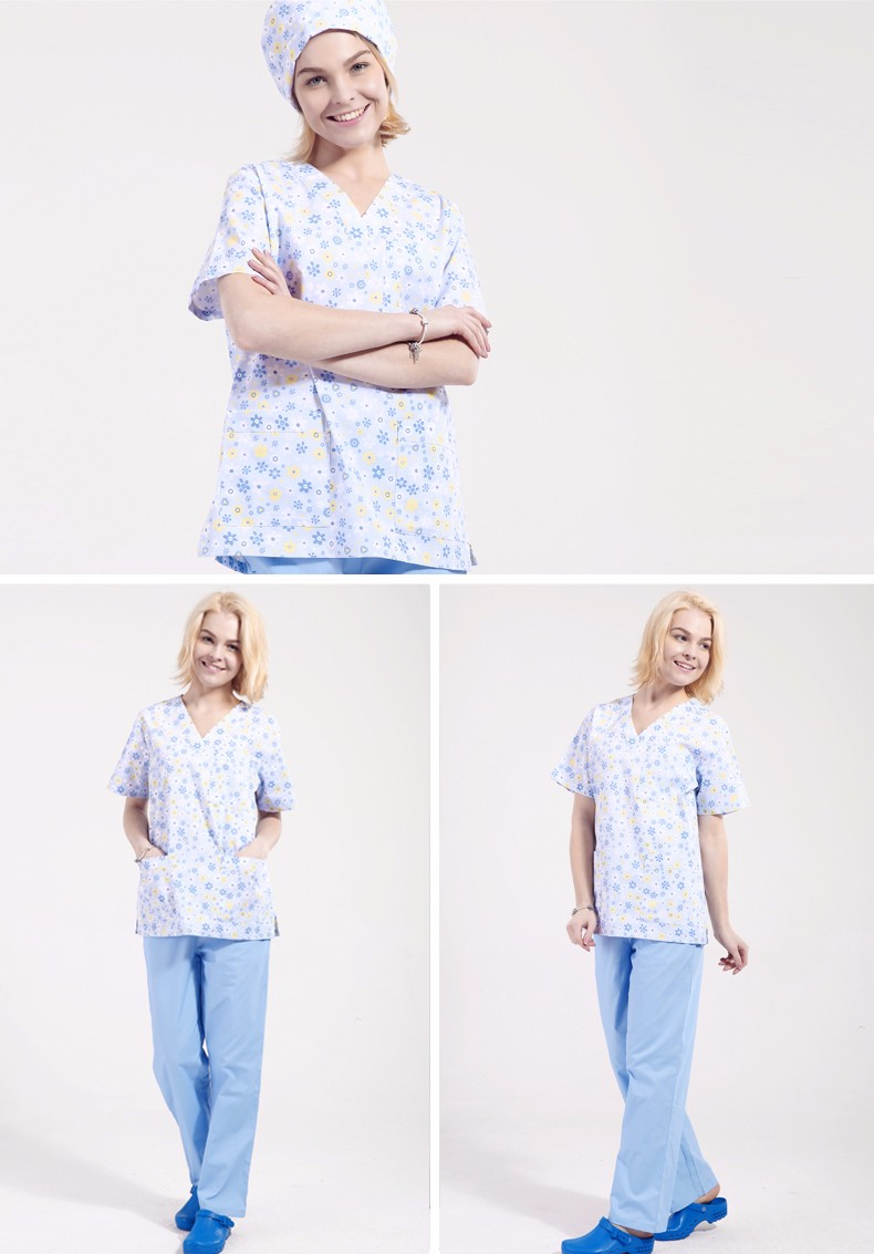 New Fashionable Nursing Uniform Printing Design