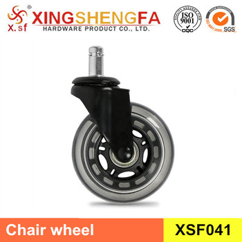5 Pack Black Office Chair Rollerblade Caster Wheel Soft Casters Ball Bearing