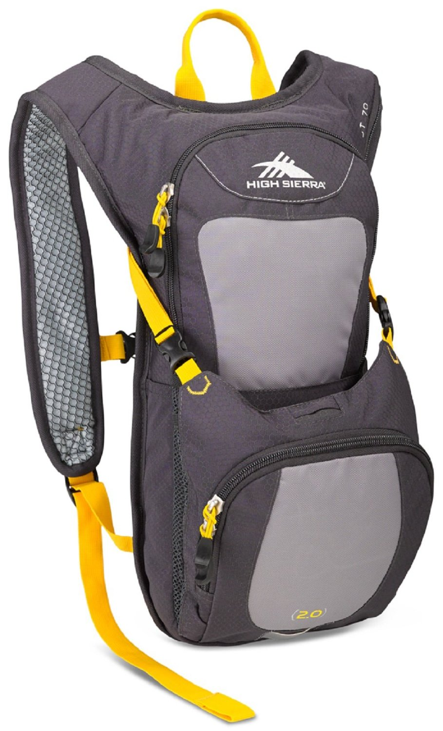 High Sierra Quickshot 70 Hydration Backpack Pack with 2L BPA Free Bladder: Perfect for Hiking, Running, Cycling, Biking, Climbing, Hunting, and Outdoor Activities
