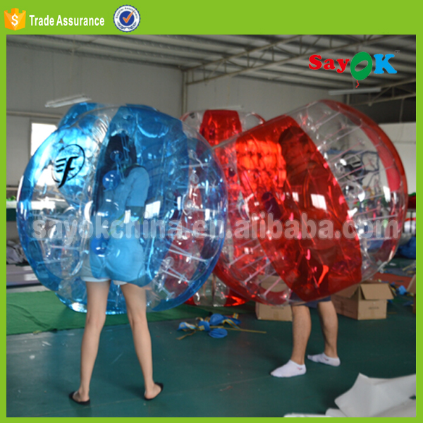 2017 Hot sale giant PVC/TPU inflatable bubble ball suit for football