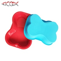 Amazon hot easy release silicone dog bone cake pan