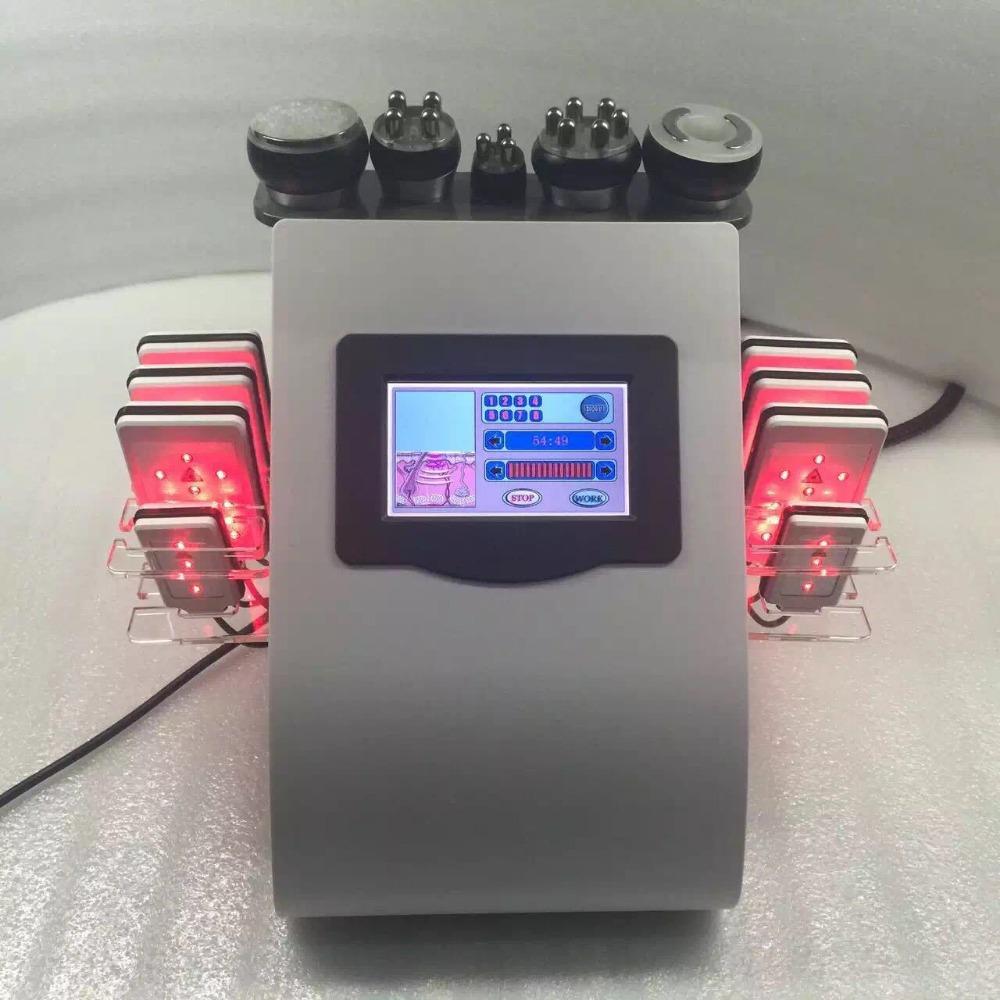 New Portable 6 In 1 cavi-lipo ultrasound cavitation machine 40K Cavitation RF Multipolar Tripolar Vacuum Laser Slimming Machine