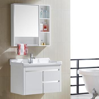 Pvc Blanc Meubles Bath Vanity Salle De Bains Meuble D'Angle Blanc