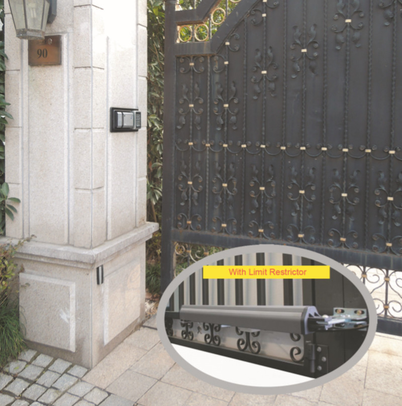 electric gate opener dc control board dual swing gate motor with limit stop