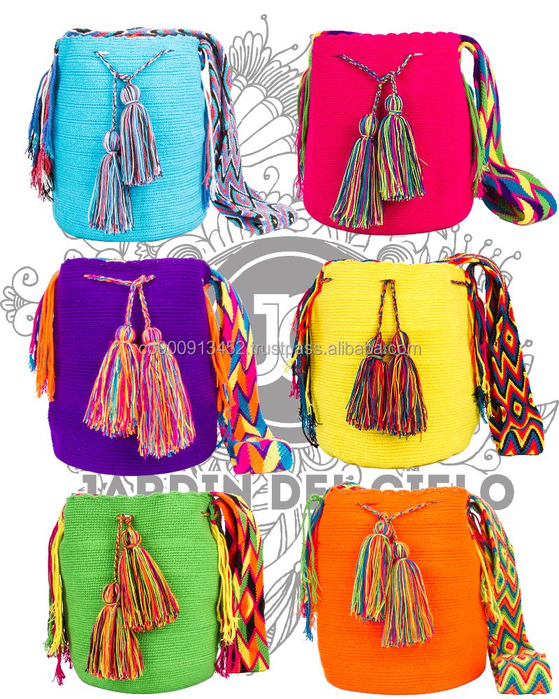 bb70cbed436 Genuine Solid Wayuu Mochila Bag By Jardin Del Cielo (vibrant) - Buy ...