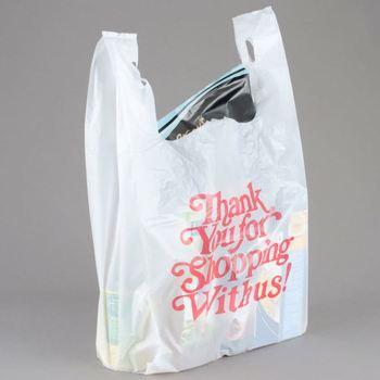 Unika Plastic Transparent Designer Shopping Plastic Bags Cut Plastic BU-46