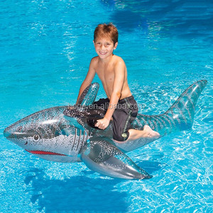 Huge 72 inch Inflatable shark pool rider /float