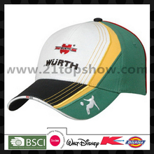 BSCI embroidery cap cotton twill cap for sports