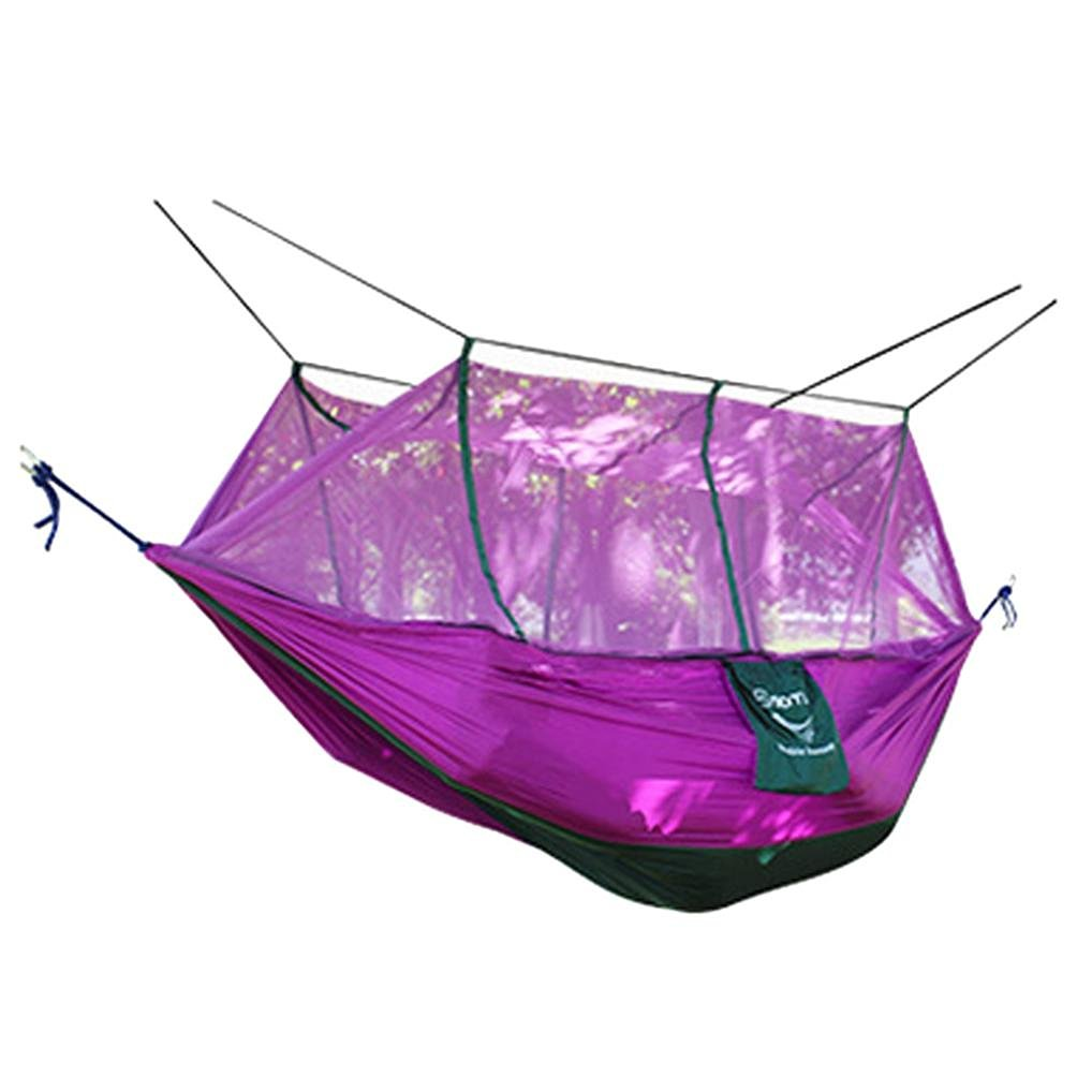 Hammocks ,Hmlai@ 2 Person Nets Formula Parachute Cloth Hammock Parachute Hammock Double Wide Solid Outdoor Patio Yard Camping GN