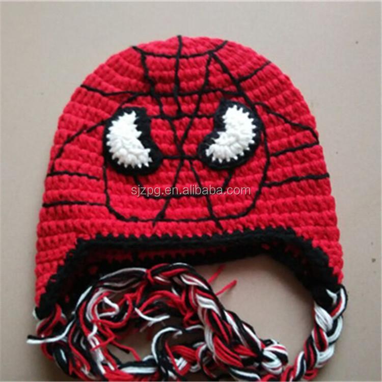 Factory Hot Sale Handmade Crochet Spider Man Hat Boys Hat Buy