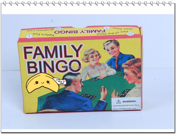 toys and customized playing box family bingo game board