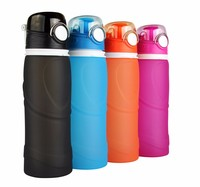 Hot Items Of Silicone Drinking Collapsible Water / Foldable Sports Water Bottle
