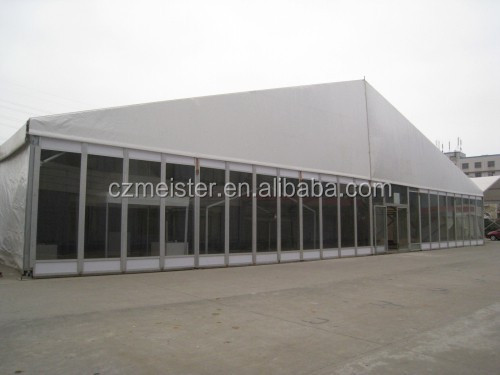 30x50 aluminum frame glass exhibition tents