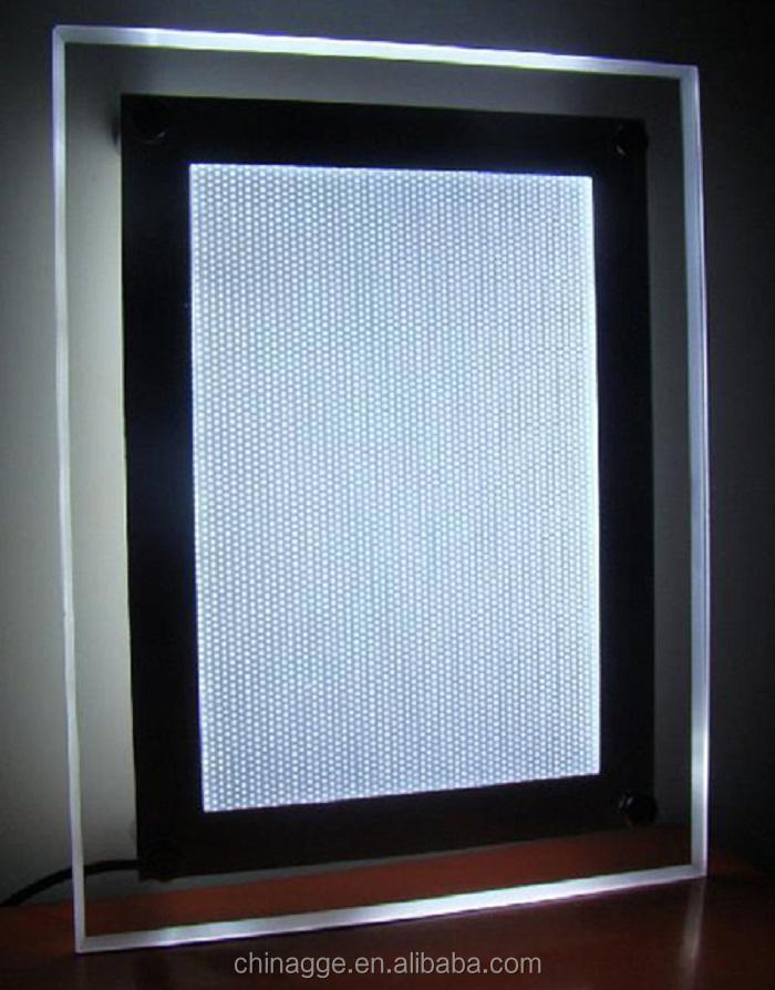 Restaurant Light Boxes Advertising Led Display Illuminated Acrylic ...